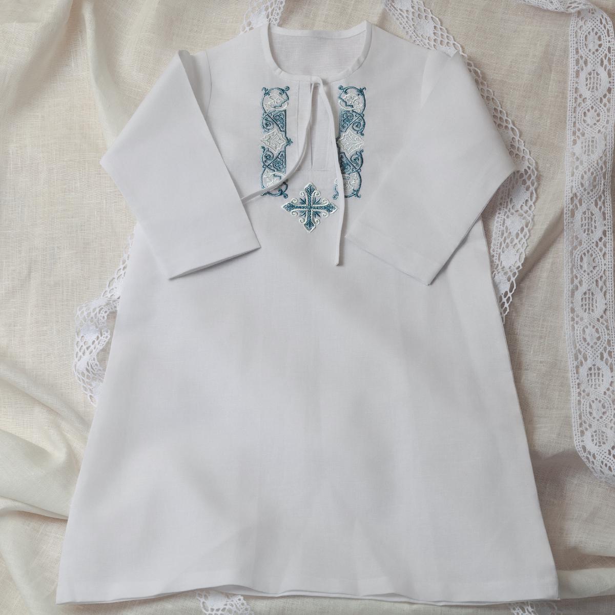 Крестильная рубашка для мальчика своими руками фото